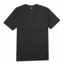 스투시() [스투시] STUSSY HEATHER O DYED S/SL POCKET TEE (BLACK HEATHER) [114983-BLAH]