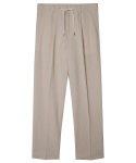모디파이드() M#1355 linen string crop slacks (beige)