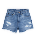 피스워커() DENIM HALF DESTROYED - Menu Blue / Short