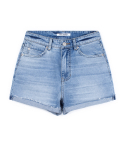 피스워커() DENIM HALF ROLL UP - Menu Blue / Short