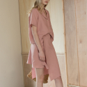 어나더에이(ANOTHER A) Linen wrap skirt (pink)