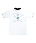 돈애스크마이플랜(DAMP) HALF ZIP-UP SOUVENIR COLLAR TEE_WHITE