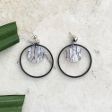 루어스트(LURE.ST) [never ending summer 001] white mix+black ring earrings