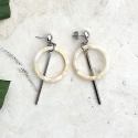 루어스트(LURE.ST) [never ending summer 005] R beige mix+stick earrings