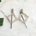 루어스트(LURE.ST) [never ending summer 006] S beige mix+stick earrings