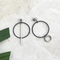 루어스트(LURE.ST) [never ending summer 011] black ring unbalance earrings