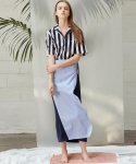 언에디트(ANEDIT) D WRAP LONGSKIRT_NV