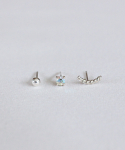 르미닛(LE MINUIT) Earring set (귀걸이 세트) [92.5 silver]