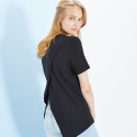 룩캐스트(LOOKAST) BLACK BACK SLIT TSHIRT