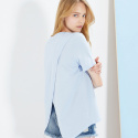 룩캐스트(LOOKAST) BLUE BACK SLIT TSHIRT