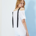 룩캐스트(LOOKAST) OFF WHITE OFF SHOULDER TAPE TOP