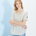 룩캐스트(LOOKAST) GREY BASIC LINEN TSHIRT