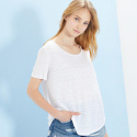 룩캐스트(LOOKAST) WHITE BASIC LINEN TSHIRT