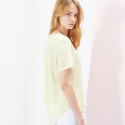 룩캐스트(LOOKAST) YELLOW BASIC LINEN TSHIRT