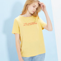 룩캐스트(LOOKAST) YELLOW JOURNEY RED PRINT TSHIRT
