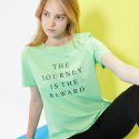 룩캐스트(LOOKAST) GREEN JOURNEY PRINT TSHIRT