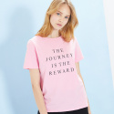 룩캐스트(LOOKAST) PINK JOURNEY PRINT TSHIRT