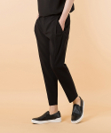 POLINEN EASY BANDING SLACKS (one-tuck cropped)