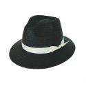 basic mannish panama hat black (7 ribbon color)