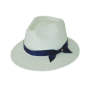 basic mannish panama hat white (7 ribbon color)