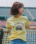 리올그(REORG) ROG PRINTING T-SHIRTS LIGHT YELLOW