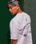 리올그(REORG) BASIC LOGO T-SHIRTS WHITE