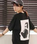 어메이드(AMADE) Printing Point Cotton Tee Black