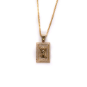 Design By TSS JESUS SQUARE NECKLACE - GOLD