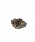 RATS / INITIAL RING T / SILVER x BRASS