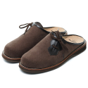 THEKLAXON] SHEPHERD_SANDAL LINEN BROWN (WOMAN)