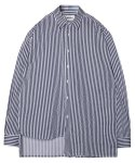 모디파이드() M#1370 unbalance stripe shirt (navy)
