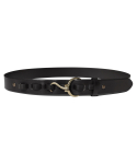 모디파이드() M#1367 hook leather belt (black)