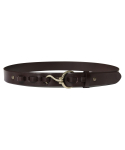모디파이드() M#1366 hook leather belt (brown)