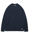 모디파이드() M#1374 pure cotton long sleeve tee (navy)