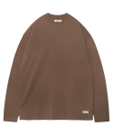 모디파이드() M#1377 pure cotton long sleeve tee (brown)
