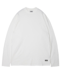 모디파이드() M#1376 pure cotton long sleeve tee (white)