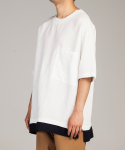 Linen layered pullover shirts_Off White