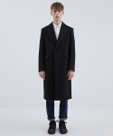 CABINET COAT BLACK (BOXY SHAPED CROMBIE COAT)