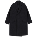 바이엘(BY.L) HIDDEN BUTTON COAT BLACK