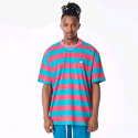 플라잉 나인티(FLYING NINETY) FNTY Stripe icecream oversized t-shirt