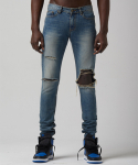 테이크이지(TAKEASY) VINTAGE WASH DESTRYED D/B DENIN JEAN