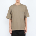 로우 투 로우(RAW TO RAW) BIO WASHED COTTON NOMAD POCKET TEE(SAND)