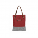 [G.ride] BERENICE Tote Bag - Red/Grey