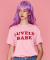 LIT/G BABE LETTERING T-SHIRT(PINK)