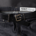 애즈라 아서(EZRA AUTHER) [Ezra Arthur] No.1 Belt - Black