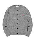 라이풀() KANCO WOMENS CLASSIC KNIT CARDIGAN heather gray