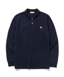 라이풀(LIFUL) KANCO LOGO L/S POLO SHIRT navy