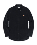 라이풀() KANCO CORDUROY SHIRT black