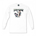 쓰레셔(THRASHER) Tattoo L/S Tee - White