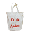 Fruit Aeiou fabric shoulder bag